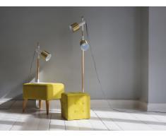 Lampadaire - Lampe - Lampe de lecture - Lampe de salon - Blanc - Owens