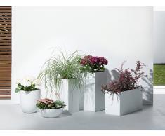 Cache-pot de fleurs - blanc - accessoire de jardin - 34x34x12 cm - Muritz