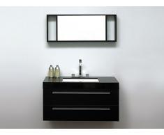 Meuble vasque à tiroirs - miroir inclus - noir - Barcelona