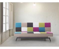 Canapé convertible - canapé-lit en tissu patchwork - Leeds