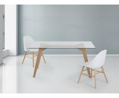 Table de salle à manger - table en verre - 160x90 cm - Hudson