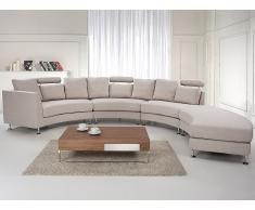 Canapé d'angle - canapé en tissu beige - sofa Rotunde