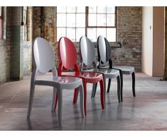 Chaise de salle à manger - plastique noir - Merton