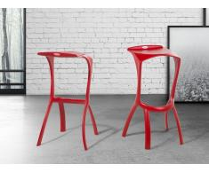 Tabouret de bar design rouge - Broome