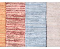 Tapis rectangulaire en coton - beige - 80x150 cm - Derince