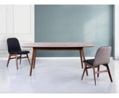 Table de salle à manger - Table de cuisine - extensible - 150x190x90x75 cm - marron - Madox