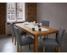 Chaise de salle à manger - chaise en tissu - gris - Broadway