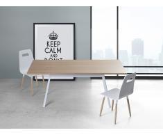 Table de salle à manger - table de cuisine - blanc - 180 cm - Flow