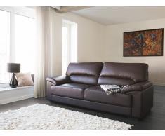 Canapé 3 places - Canapé en cuir - Canapé marron - Vogar