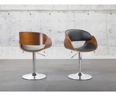 Tabouret de bar - Chaise de bar design - couleur bois naturel - Baku