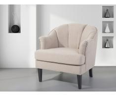Fauteuil en tissu - fauteuil tapissé beige - Elverum