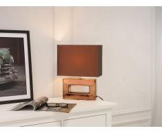 Lampe à poser - Lampe de chevet - marron - Onyx