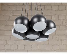 Lampe de plafond - suspension - plafonnier - luminaire noir - Olza
