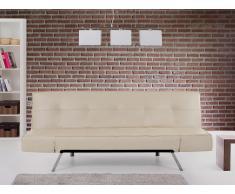 Canapé convertible - canapé-lit en cuir beige - Bristol