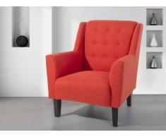Fauteuil en tissu - fauteuil tapissé rouge - Wilmington