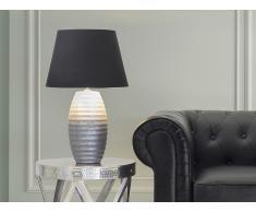 Lampe à poser - lampe de salon, de chevet, de bureau - argent - Ebro