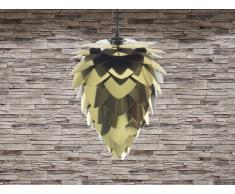Lampe de plafond - suspension - plafonnier - luminaire noir & or - Bloom Mini