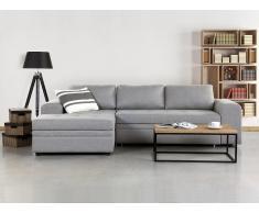 Canapé d'angle convertible avec rangements - canapé en tissu gris clair - Kiruna