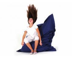 Pouf géant XXL - coussin de sol 140x180 cm - bleu foncé