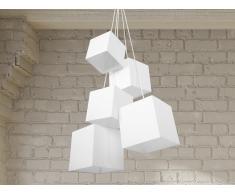 Lampe de plafond - suspension - plafonnier - luminaire blanc - Mesta