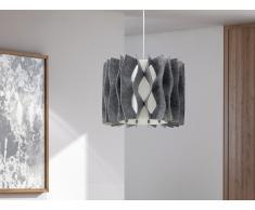 Lampe de plafond - suspension - plafonnier - luminaire gris - Moza