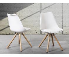 Chaise design - siège en plastique blanc - Dakota