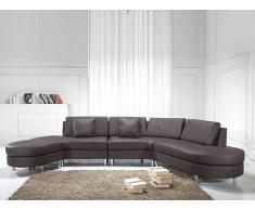 Canapé d'angle - canapé en cuir brun - sofa Copenhagen