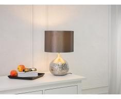 Lampe à poser - Lampe de salon, de chevet, de burreau - argent - Yakima