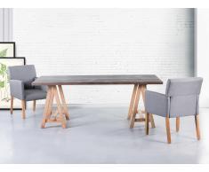 Table de salle à manger - Table de cuisine - 200x100 cm - gris - Moore