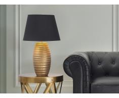Lampe à poser - lampe de salon, de chevet, de bureau - or - Ebro