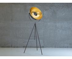 Lampadaire design - luminaire - lampe de salon - noir - Thames