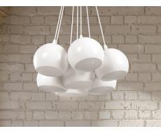 Lampe de plafond - suspension - plafonnier - luminaire blanc - Olza