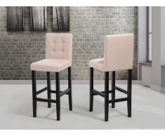 Chaise de bar - en tissu - beige - Madison