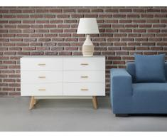 Commode - buffet - meuble TV - blanc - Newark