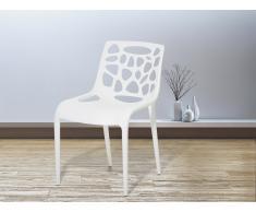 Chaise de jardin - Chaise en plastique blanc - Morgan