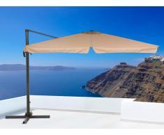 Parasol en métal - toile mokka carrée - 297x297 cm - Monza