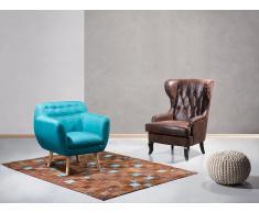 Fauteuil de salon - fauteuil en tissu brun - Molde