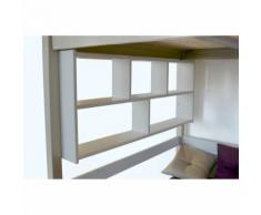 Étagère Murale - Couleur - Gris Aluminium, Dimensions - Largeur 160