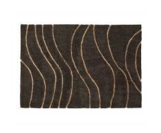 Tapis rectangulaire Gattman 160x230 cm laine gris foncé