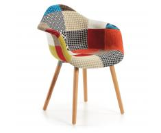 Chaise avec accoudoirs Kevya, patchwork