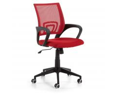 Chaise bureau Rail, rouge