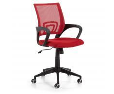 Chaise bureau Rail, rouge