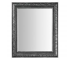 Miroir Kandi, argent et neutre