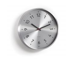 Horloge murale Siddy métal argenté
