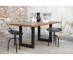 Table industrielle en teck Peterstivy