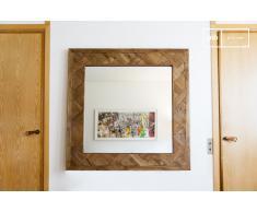 Miroir industrielle en bois Queens