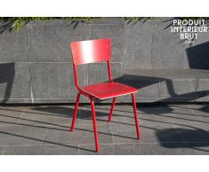 Chaise scandinave Skole rouge
