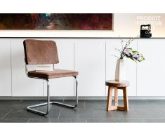 Chaise scandinave Krömart couleur café
