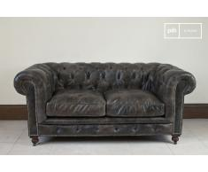 Canapé chesterfield cuir 2 places Saint James