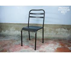 Chaise metal empilable brune